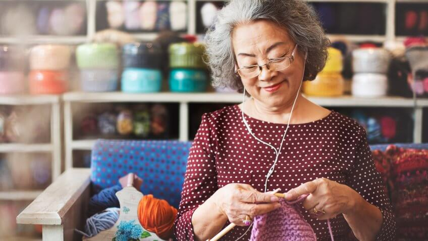 Knitting Knit Needle Yarn Needlework Craft Scarf Concept.