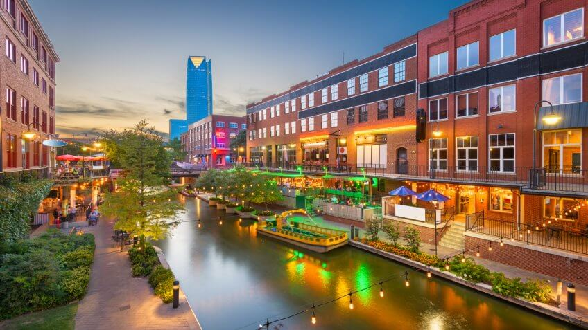 Bricktown Canal in Oklahoma City, Oklahoma