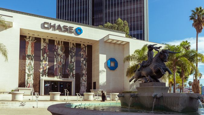 Chase Bank on Vine Street in Los Angeles California