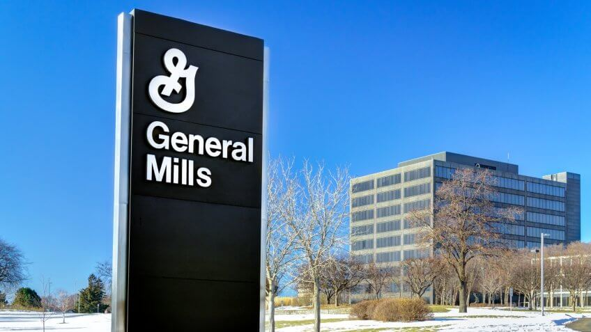 Golden Valley, USA - January 18, 2015: General Mills corporate headquarters and sign.