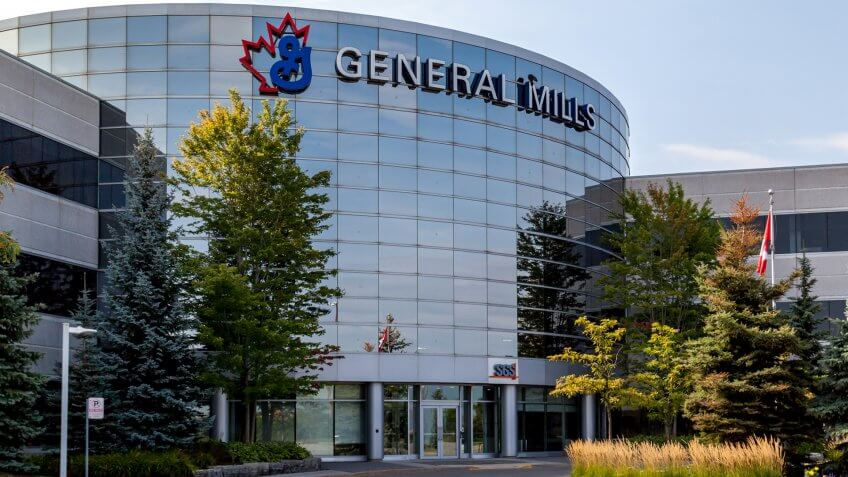 Mississauga, Ontario, Canada- August 25, 2018: General Mills Canada head office in Mississauga, Canada, an American manufacturer and marketer of branded consumer foods.