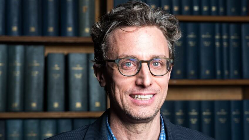 Mandatory Credit: Photo by Roger Askew/The Oxford Union/REX/Shutterstock (9473436a)Jonah Peretti, American internet entrepreneur, CEO of Buzzfeed and co-founder of the Huffington PostJonah Peretti at The Oxford Union, UK - 28 Feb 2018.