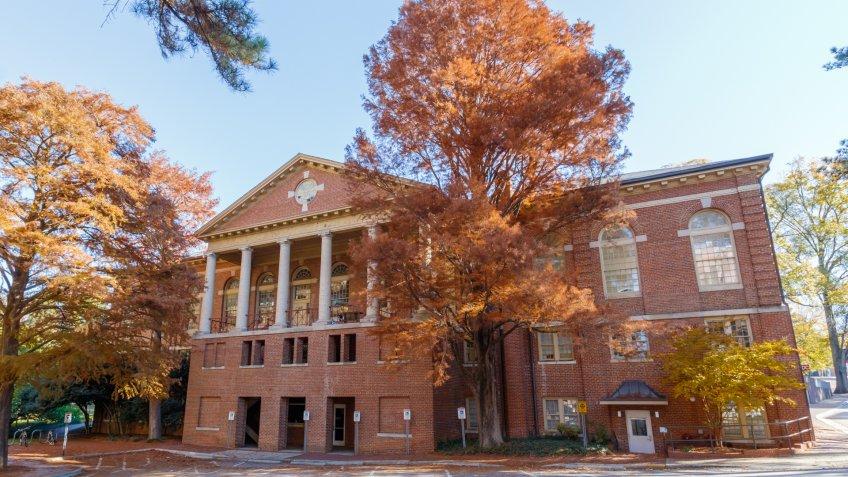 RALEIGH, NC, USA - NOVEMBER 24: Leazar Hall on November 24, 2017 at North Carolina State University in Raleigh, North Carolina.