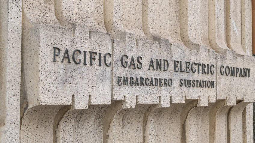 SAN FRANCISCO, CA – APRIL 24, 2018: Pacific Gas & Electric location located in San Francisco Embaradero.