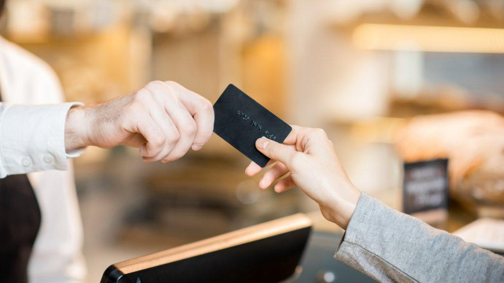 paying with a black credit card