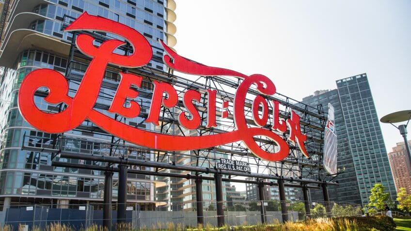Queens, New York, USA - September 19, 2013: Landmark Pepsi Cola sign in Long Island City, New York City on September.