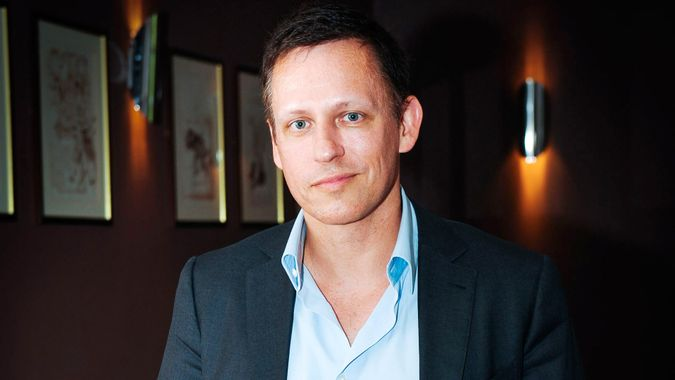 Mandatory Credit: Photo by Roger Askew/REX/Shutterstock (4735070a)Peter ThielPeter Thiel at the Oxford Union, Britain - 30 Apr 2015Peter Thiel, co-founder of Paypal, speaking about death and ageing.