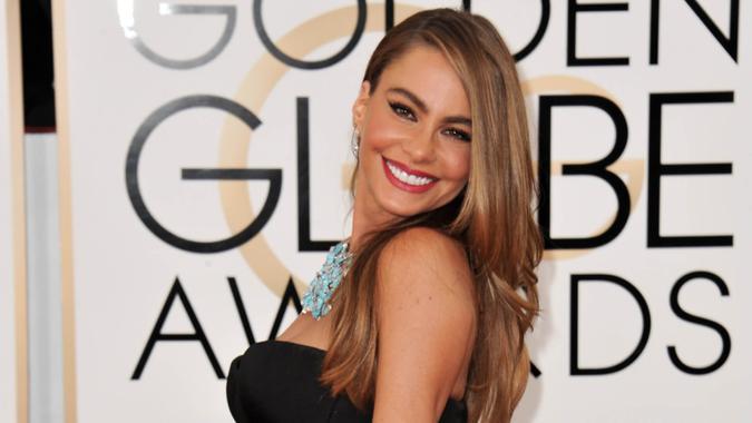 LOS ANGELES, CA - JANUARY 12, 2014: Sofia Vergara at the 71st Annual Golden Globe Awards at the Beverly Hilton Hotel.