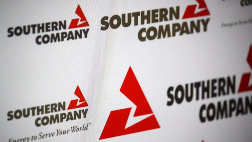 """DECEMBER 2013 - BERLIN: the logo of the brand """"Southern Company""""."""