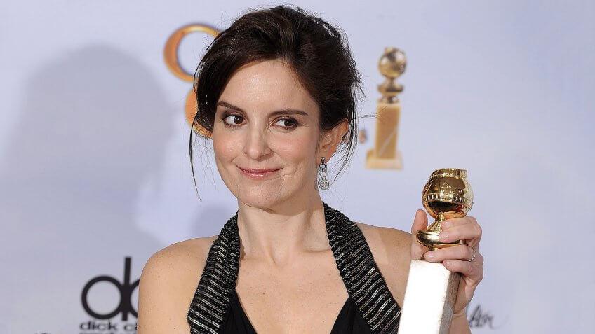 Mandatory Credit: Photo by Paul Buck/EPA/REX/Shutterstock (7589523b)Us Actress Tina Fey Holds the Golden Globe For Best Performance by an Actress in a Television Series-musical Or Comedy For ' 30 Rock' at the 66th Annual Golden Globe Awards at the Beverly Hilton Hotel in Beverly Hills California Usa 11 January 2009 the Golden Globes Honour Excellence in Film and TelevisionUsa Golden Globes - Jan 2009.