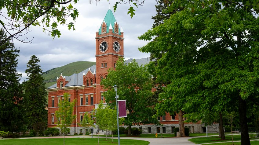 University Hall has been a landmark on the University of Montana campus in Missoula since 1898.