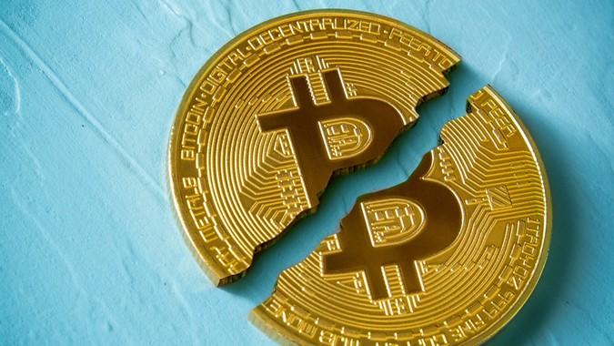broken bitcoin