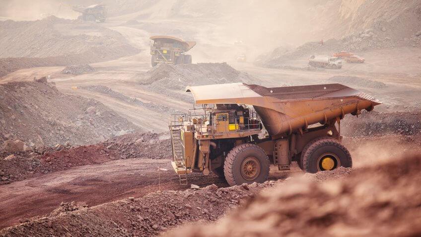 Mining Activity, mining dump truck.