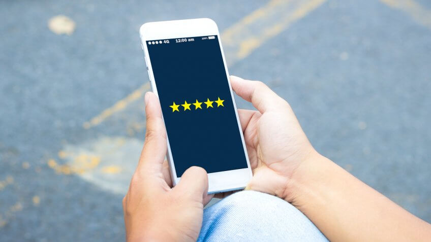 ratings on smartphone