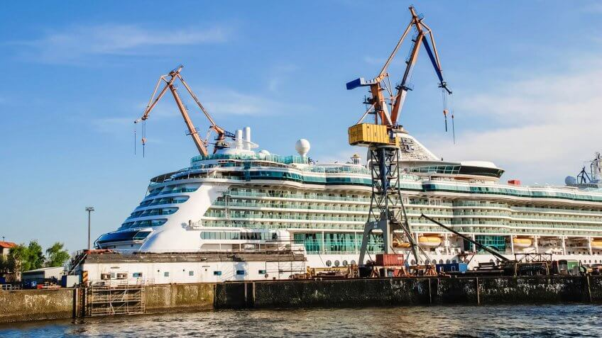 Cruise ship being renovated