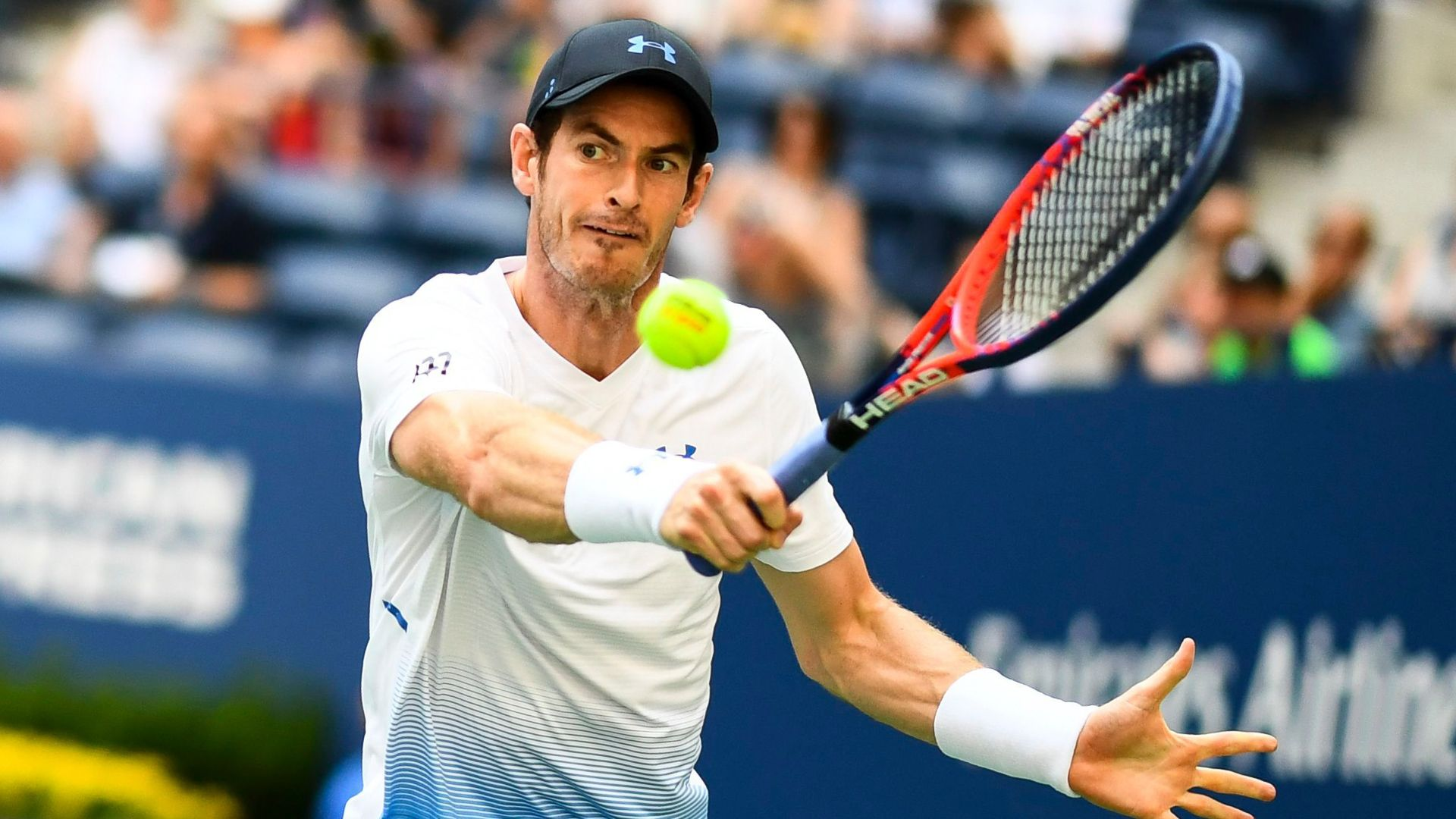 Mandatory Credit: Photo by Javier Garcia/BPI/REX/Shutterstock (9826937aw)Andy Murray during his second round matchUS Open Tennis Championships, Day 3, USTA National Tennis Center, Flushing Meadows, New York, USA - 29 Aug 2018.