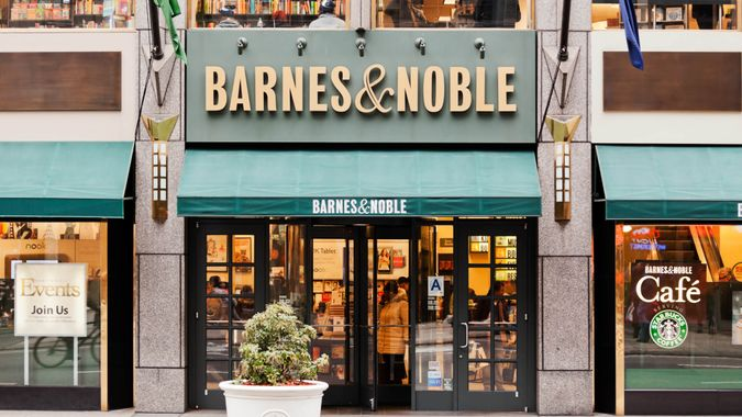 New York, United States - January 14, 2012: Barnes and Noble bookstore in the Fifth Avenue in New York City.