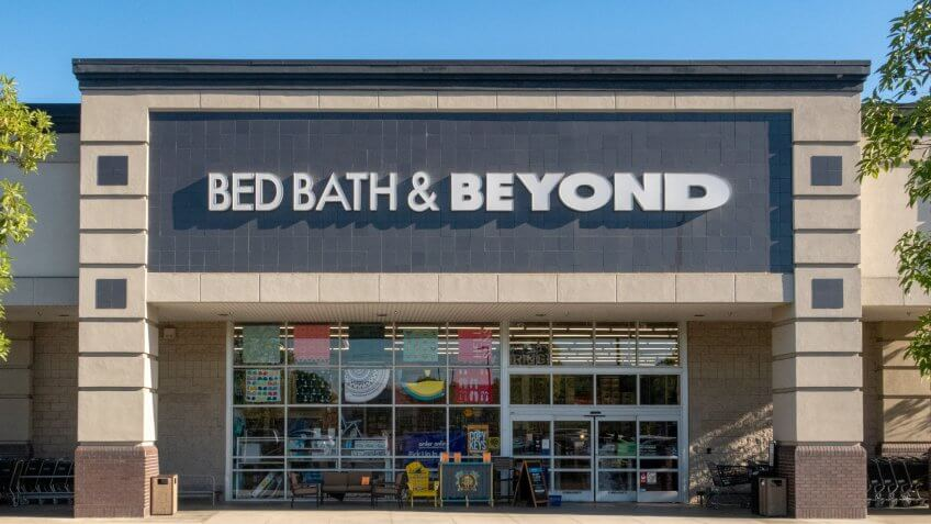 Mission Viejo, CA / USA - 07/24/2018: Bed Bath & Beyond Store Location.