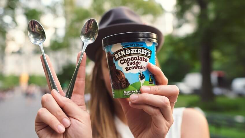 Chocolate Fudge Brownie lifestyle shot Ben and Jerry's