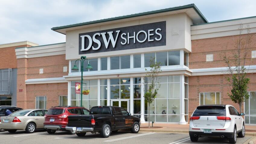 BRIGHTON, MI - AUGUST 22: DSW Shoes, whose Brighton, MI store is shown August 22, 2015, has over 350 stores.