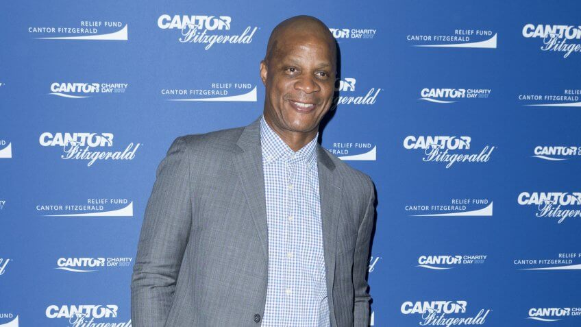 New York, NY - September 11, 2017: Darryl Strawberry attends Annual Charity Day hosted by Cantor Fitzgerald, BGC and GFI at Cantor Fitzgerald Park Avenue