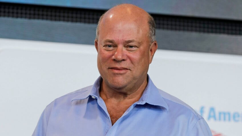 Mandatory Credit: Photo by Chuck Burton/AP/REX/Shutterstock (9754254o)New Carolina Panthers owner David Tepper poses for a photo during a news conference at Bank of America Stadium in Charlotte, N.