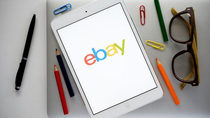 Ebay app on tablet