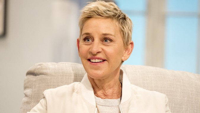 Ellen DeGeneres on the Lorraine TV show