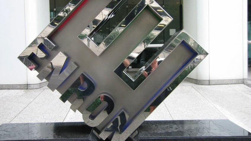 Enron sculpture in Houston
