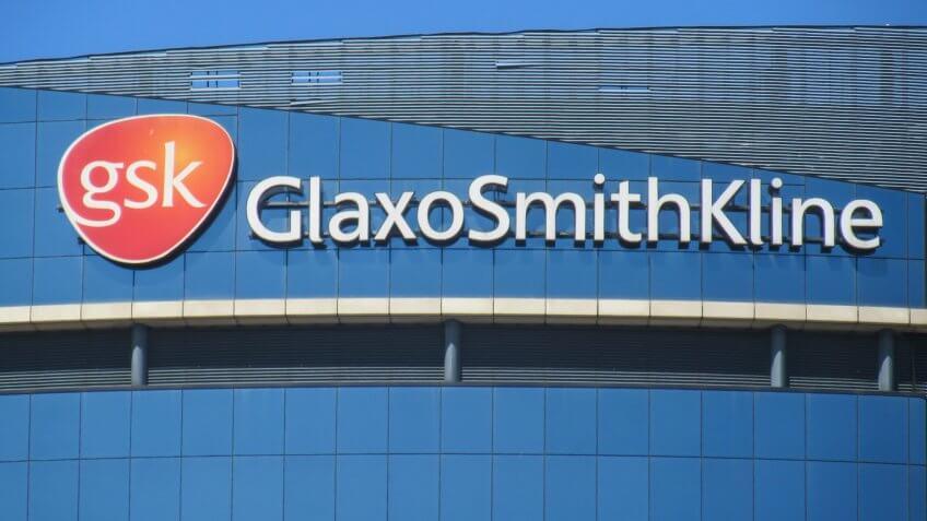 LONDON- JUNE, 2018: The GlaxoSmithKline headquarters building in Brentford, west London.
