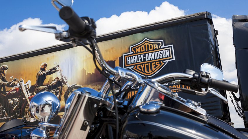 Antalya, Turkey - May 12, 2013: Harley Davidson is Americas greatest manufacturer of motor cycles.