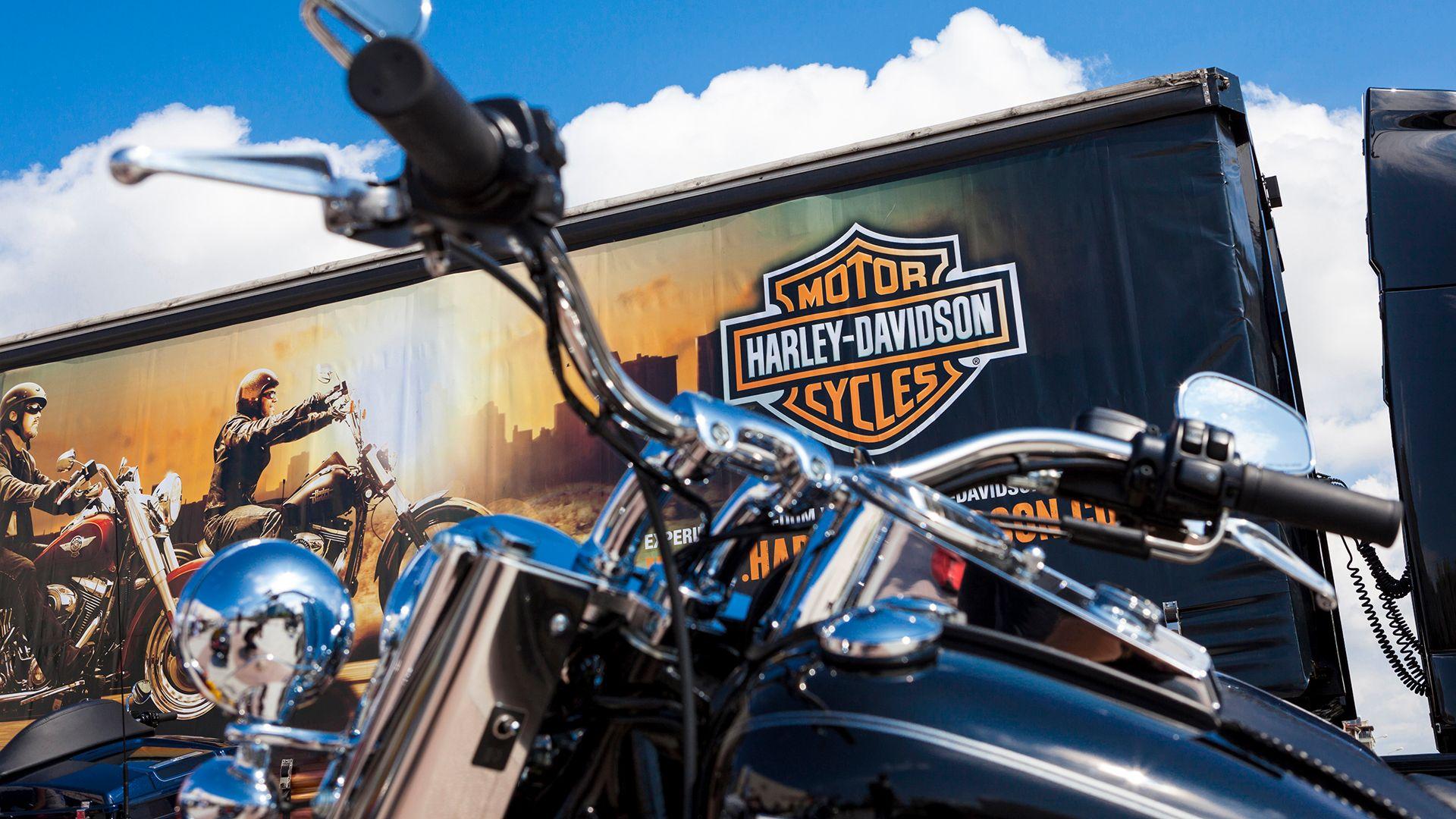 Antalya, Turkey - May 12, 2013: Harley Davidson is Americas greatest manufacturer of motor cycles.