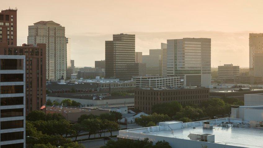 Houston at sunrise. Houston, Texas, USA