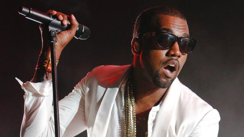Mandatory Credit: Photo by Abdeljalil Bounhar/AP/REX/Shutterstock (6959530a)Kanye West U.