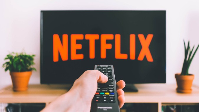 using remote control to turn on Netflix on screen
