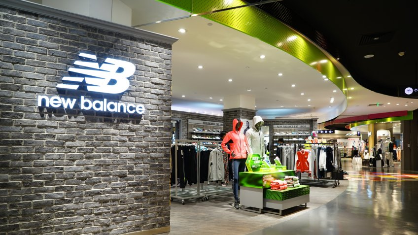 HANGZHOU-MAR. 26, 2015. NEW BALANCE STORE interior. China accounts for about 20 percent, or 180 billion renminbi ($27 billion1 ) of global luxury sales in 2015, according to new McKinsey research.