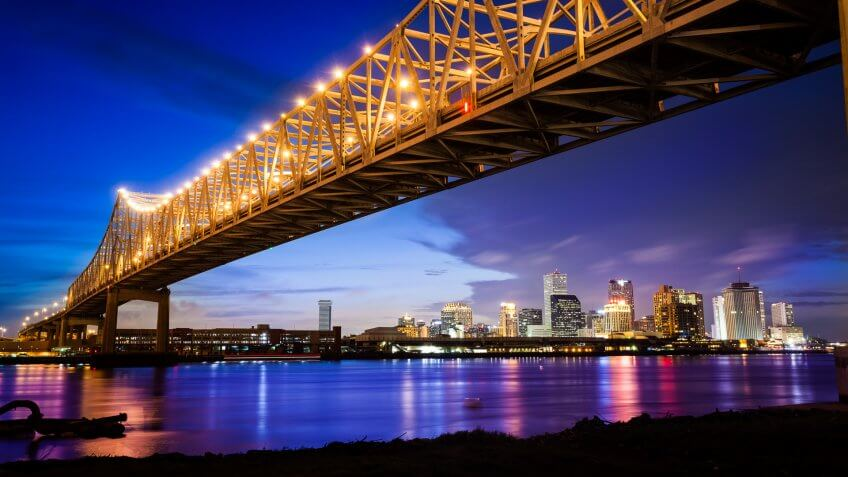The New Orleans Skyline.