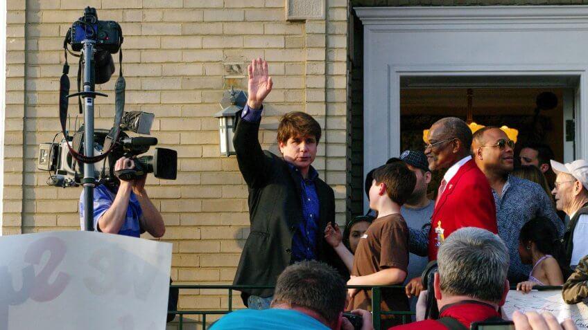 Rod Blagojevich waving
