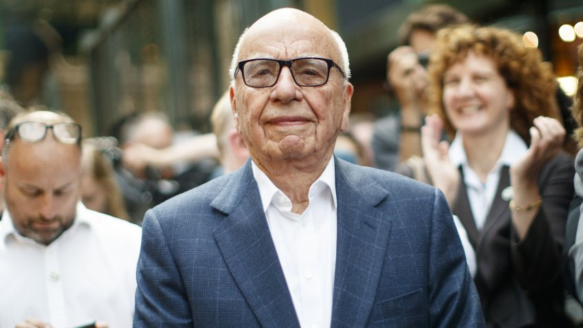 Rupert Murdoch, Owner of News Corp UK, and Fox News.