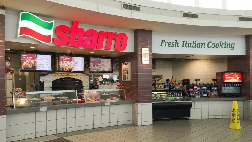 Sbarro Italian fast food chain restaurant