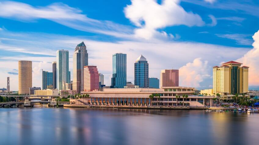 Tampa, Florida, USA downtown city skyline.