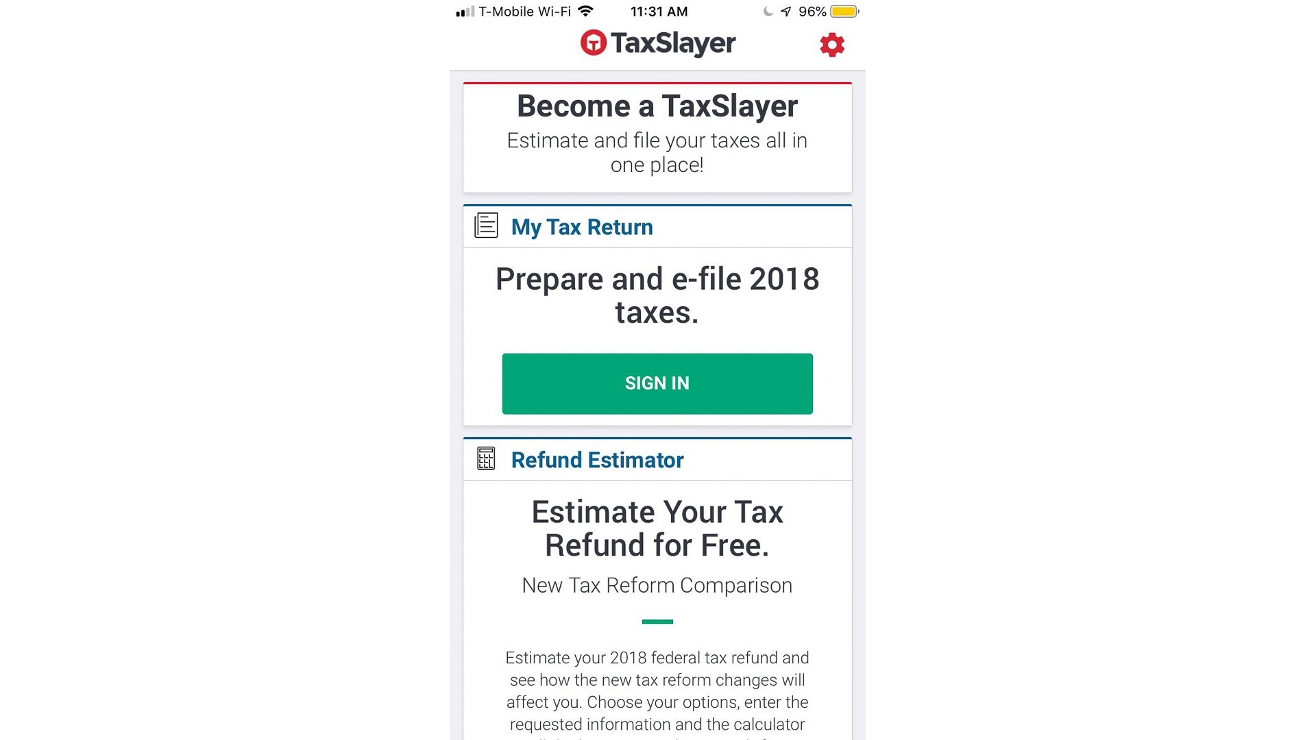 TaxSlayer mobile app
