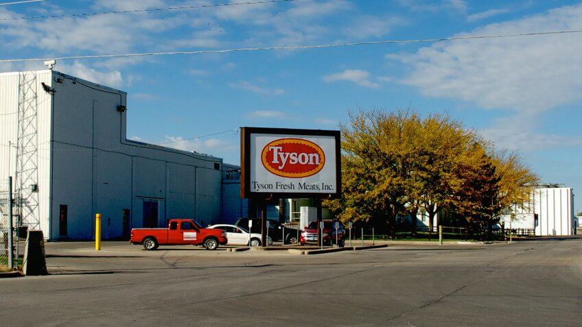 Emporia, Kansas, USA, October 12, 2013 Tyson's meat processing plant - Image.