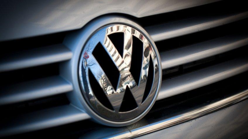 Munich, Germany - January 6, 2018. Volkswagen VW Badge on car bonnet.