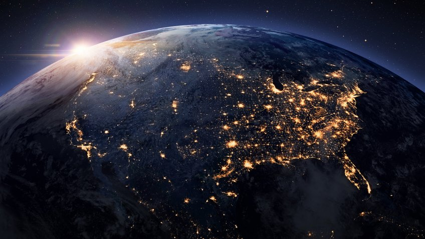 Earth night from space.