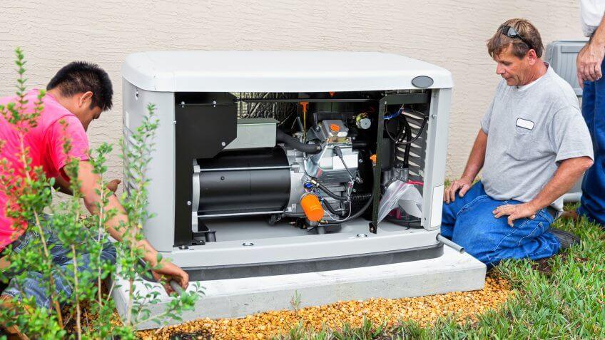installing a 17 day whole house emergency generator for hurricane season.