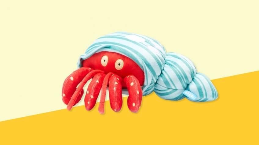 BARK Hermit Crab Shell Dog Toy — Homebody Homer the Crab.
