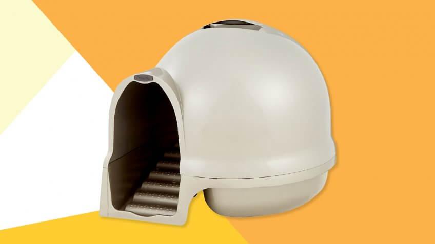 Booda Dome Cleanstep Litter Box.