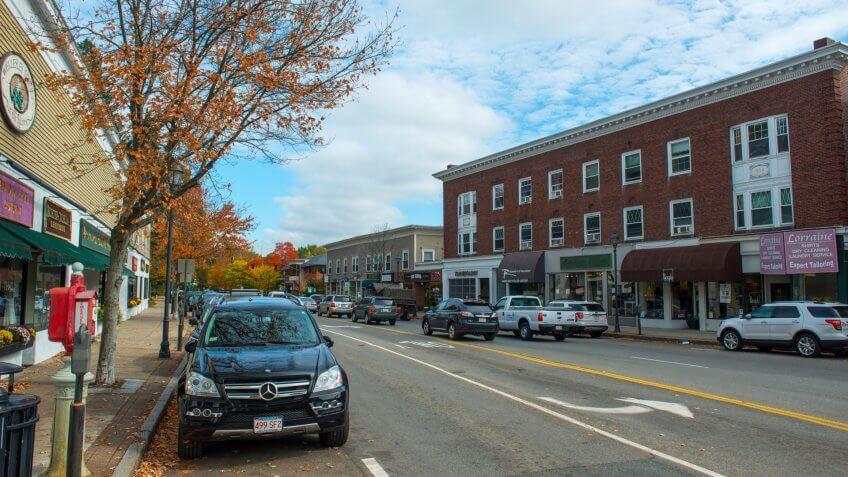 Wellesley, MA, USA - OCT.
