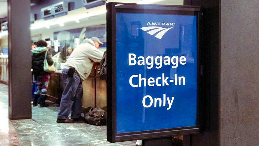 Amtrak baggage check-in